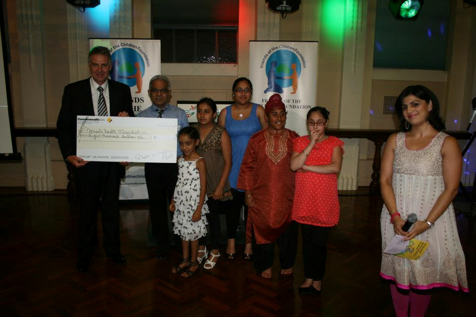 Presentation of monetary cheque to Monash Childrens Hospital